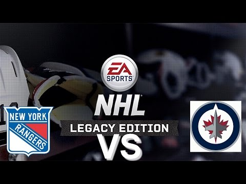 NHL Legacy Edition PS3 New York Rangers VS Winnipeg Jets