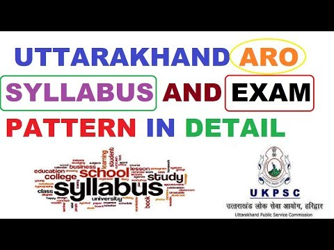 Uttarakhand Aro Syllabus In Detail Latest Youtube