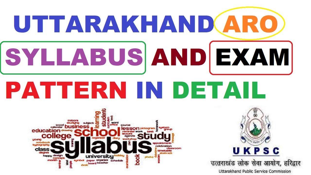 Uttarakhand Aro Syllabus In Detail Latest