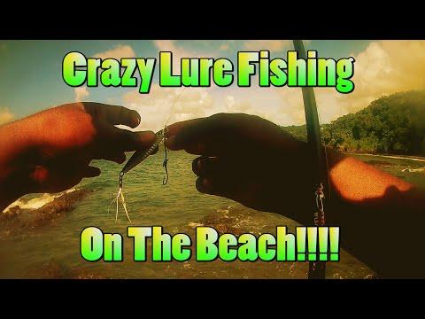WE FOUND A SECRET BEACH Casting Lures!!!!.............. Tobago Fishing!!