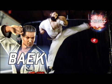 Real Life Tekken - TKD with BAEK DOO SAN [Eric Jacobus]