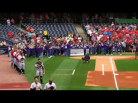 2018 Woodhaven Brownstown Middle school band performs at Toledo Mud hens Game