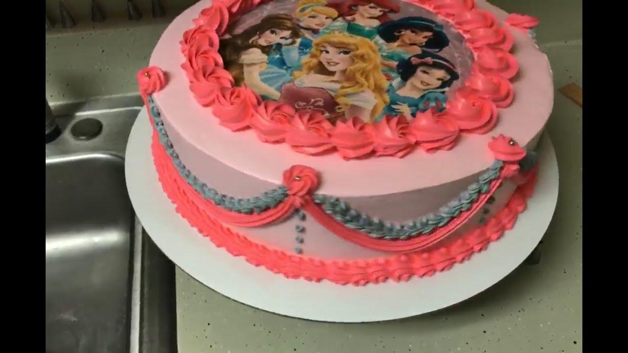 Decorando pastel de princesas  YouTube