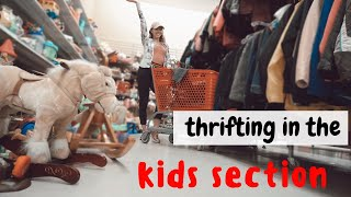 Thrift with me in the KIDS SECTION