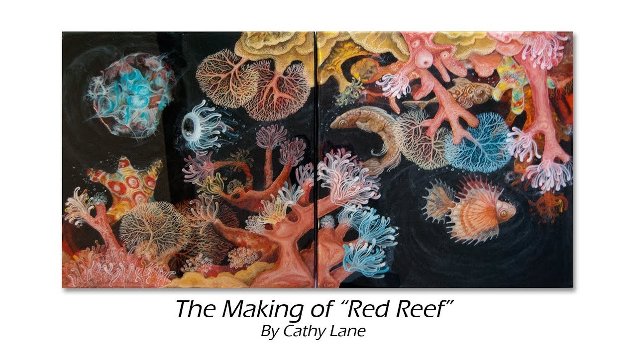 The Making Of Red Reef 3d Painting Resin Acrylic Pour