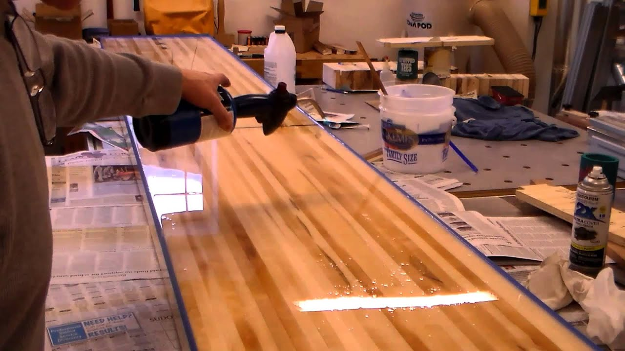 Charmant Shuffleboard Slab Finish Applied