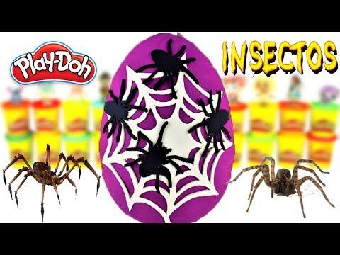 Huevo Sorpresa Gigante De Tela De Arañas De Halloween De Plastilina Play Doh En Español