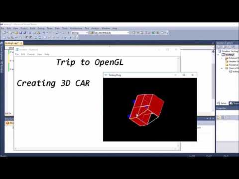 Line Drawing Algorithm Using Opengl : Simple way of creating d car using opengl youtube