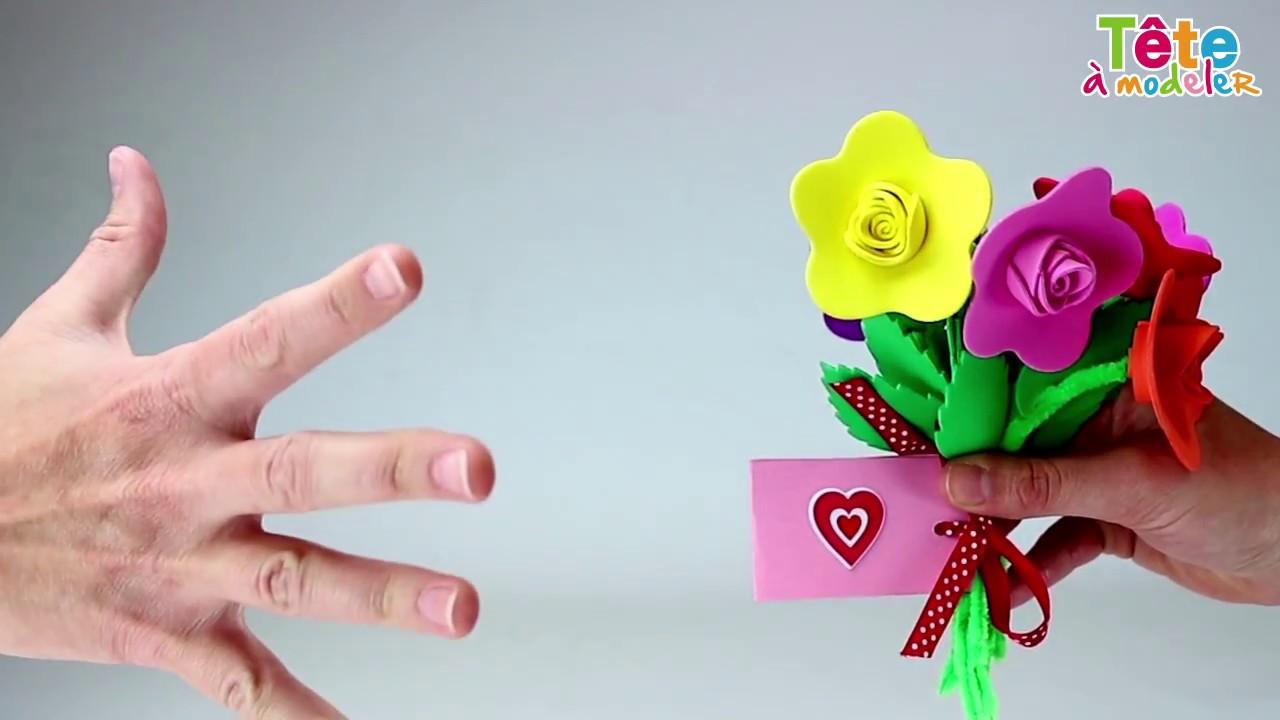 tuto le bouquet de fleurs maison une vid o by t te modeler youtube. Black Bedroom Furniture Sets. Home Design Ideas