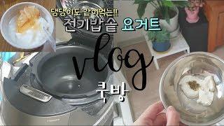 [쿡방] #3 전기밥솥 요거트 만들기!!