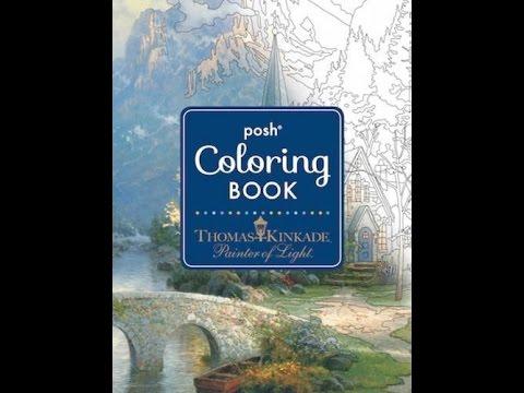 Flip Through Posh Thomas Kinkade Painter of Light Coloring Book
