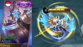 Argus Epic Skin Cataclysm Gameplay (Skill Effect) Argus Best Skin Is Coming - Mobile Legends