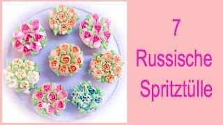 Russische Spritztüllen (7 verschiedene !)