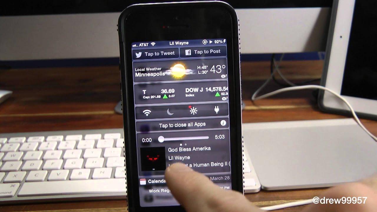 NCMusicGestures Handy Music Widget for Notification Center Cydia Tweak  Review