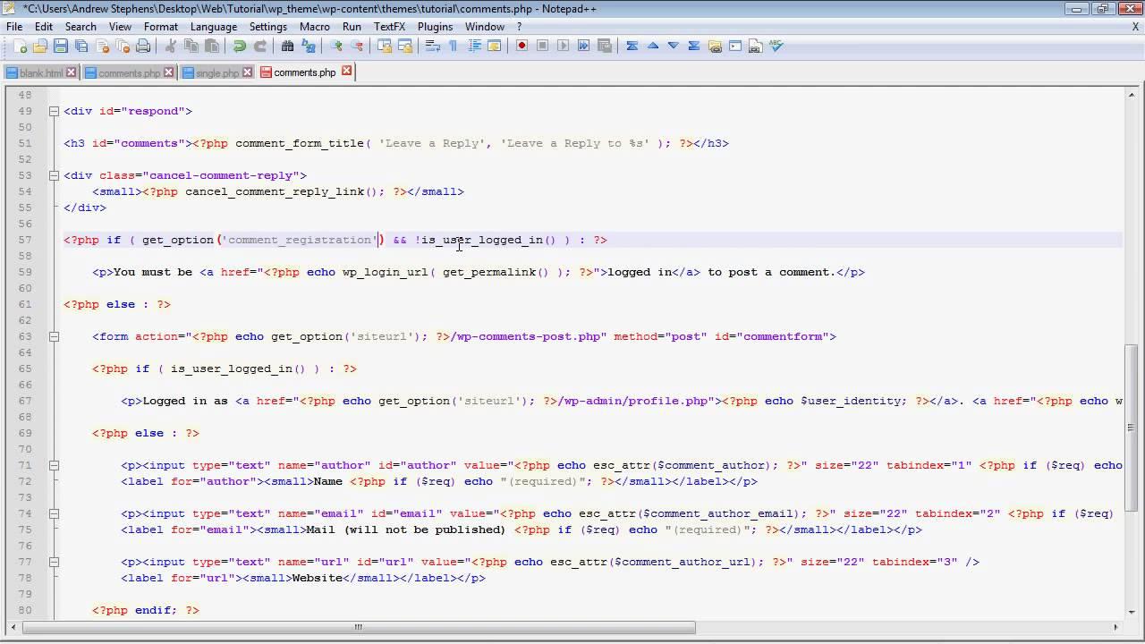 wordpress custom theme tutorial