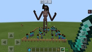 100 Players vs Siren Head in Minecraft PE