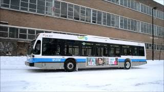 VARIOUS BUSES IN MONTREAL SNOWSTORM DEC 15 2013