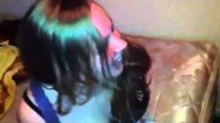Crazy girl gets hog tied lol
