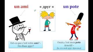 Урок #85: Сленг. Разговорный французский / Argot. Langage familier