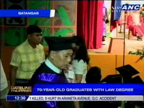 70-year-old graduates with law degree