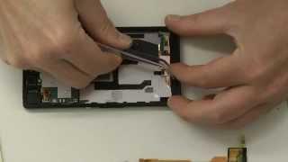Sony Xperia Z / Z1 Standby, Power, Laut Leise Knopf, Flexkabel Micro wechseln, austauschen Deutsch