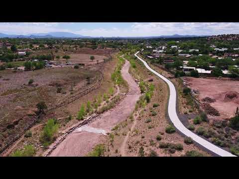 Santa Fe River grade control post project video, Aug 18, 2017