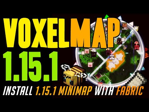 VOXELMAP 1.15.1 Minecraft - How To Download Install VoxelMap 1.15.1 [minimap] With Fabric On Windows