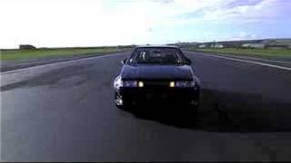 ae 86 toyota corolla supercharged drifting on airfield