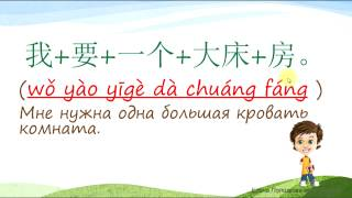 """5. Как сказать по-китайски: """"Мне нужен номер с большой кроватью. Сколько стоит 1 день?"""""""