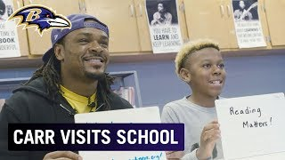 Brandon Carr Teaches Reading at Local School | Baltimore Ravens