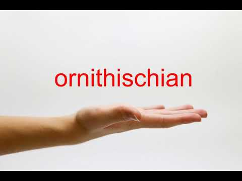 How to Pronounce ornithischian - American English