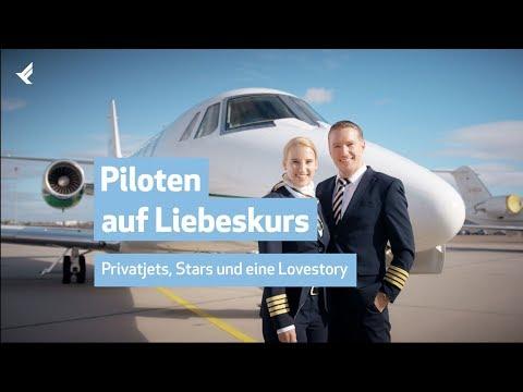 Piloten auf Liebeskurs - Businessjet-Piloten am Flughafen Stuttgart