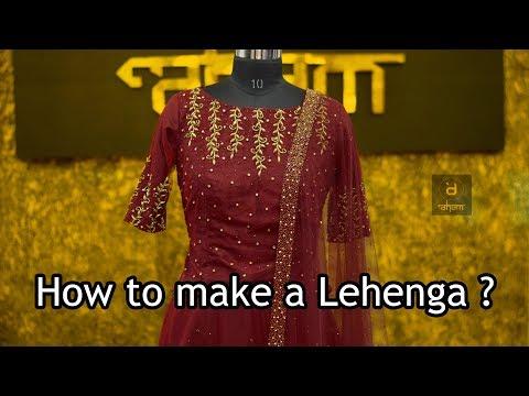how-to-make-a-red-lehenga-|-designer-lehengas-by-aham-designer-boutique