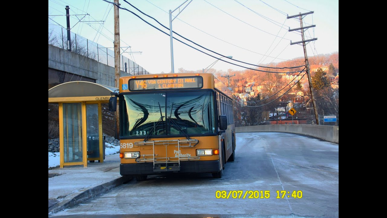 Port authority transit pittsburgh south busway flyer to glenbury full ride youtube - Pittsburgh port authority ...