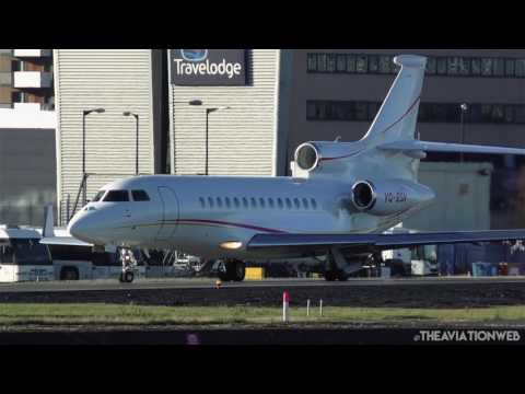 Gorgeous Dassault Falcon 7X POWERFUL SHORT departure from London City