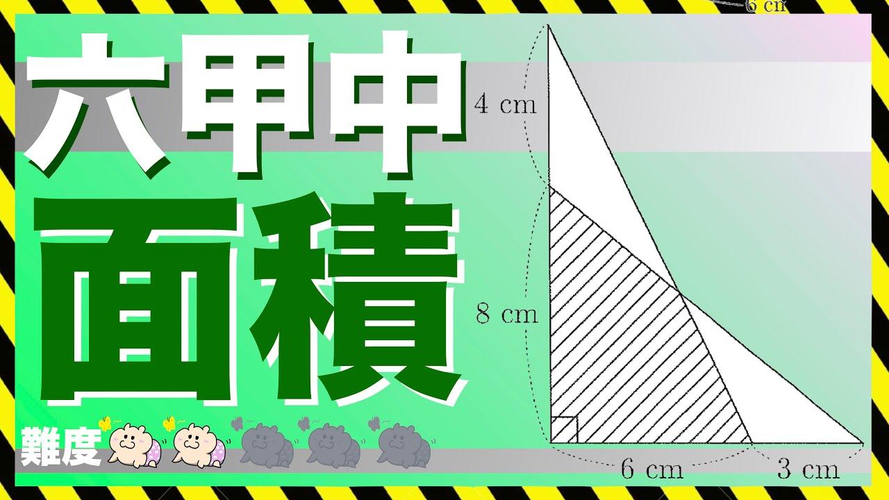 図形問題【直角三角形】六甲中学校