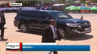 DP Ruto's arrival for Mashujaa Day celebration at Mama Ngina waterfront park