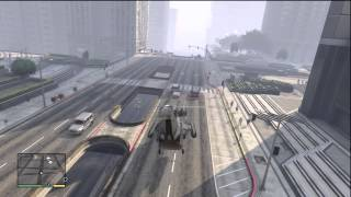 GTA 5: TOWING CAR WITH MILITARY HELICOPTER AROUND THE CITY GTAV