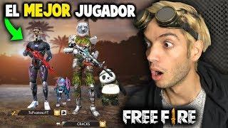 AS JUEGA EL MEJOR JUGADOR DE FREE FIRE es un hacker