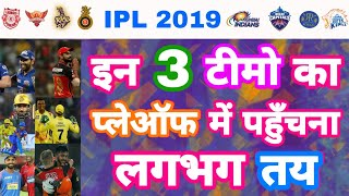 IPL 2019 List Of 3 Teams In Race For Vivo IPL Playoffs | MY cricket production