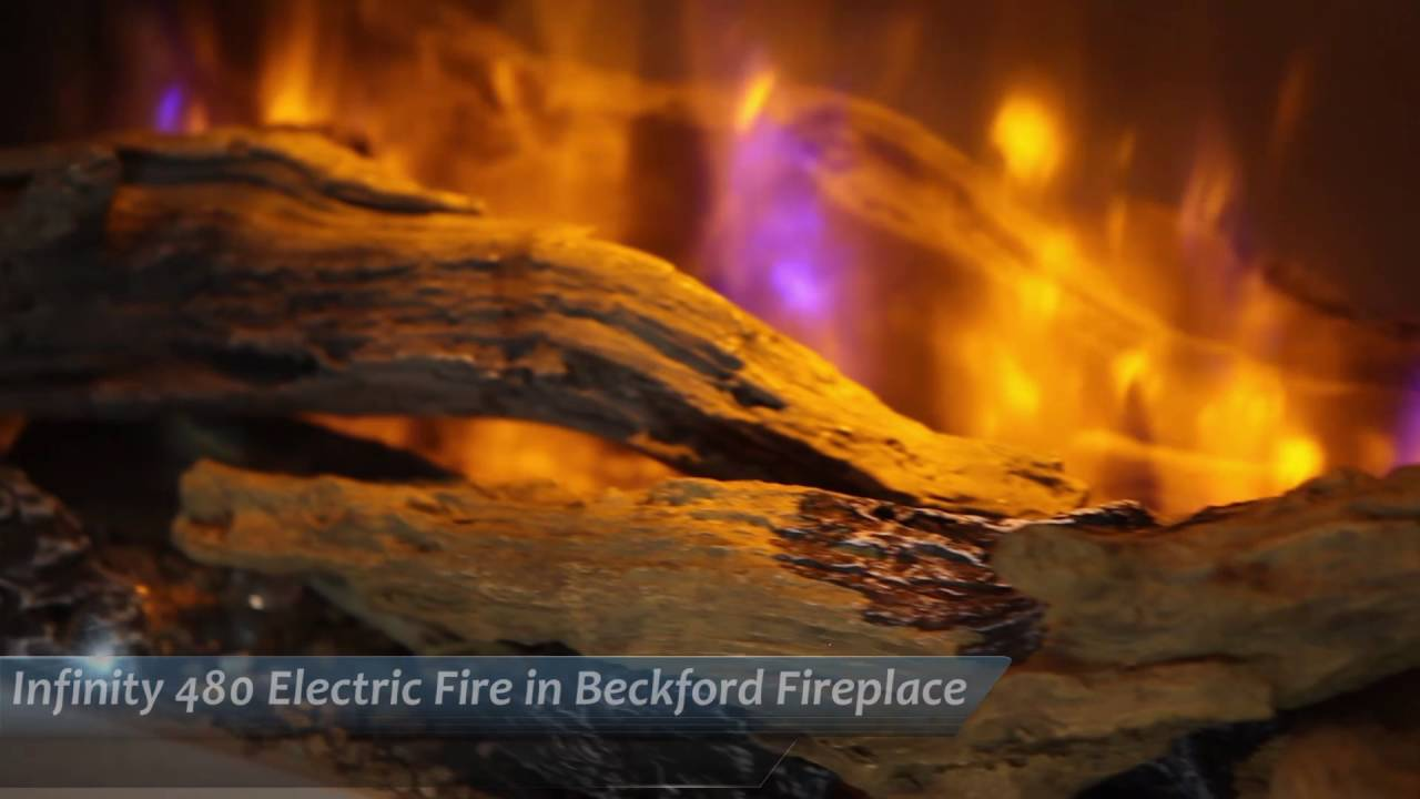 infinity 480 electric fire in beckford fireplace youtube