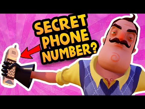 IS THE CODE A SECRET PHONE NUMBER?! | Hello Neighbor Gameplay