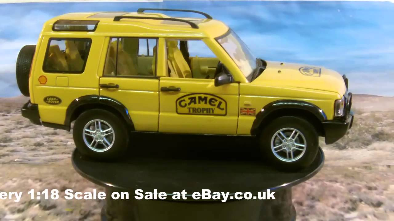 camel trophy discovery 1:18 scale for sale - youtube