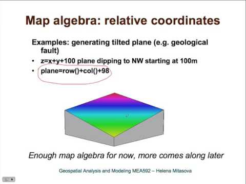 Raster map algebra lecture (NCSU Geospatial Modeling and Analysis ...