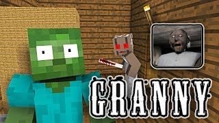 Monster School: GRANNY HORROR GAME CHALLENGE - Minecraft Animation thumbnail