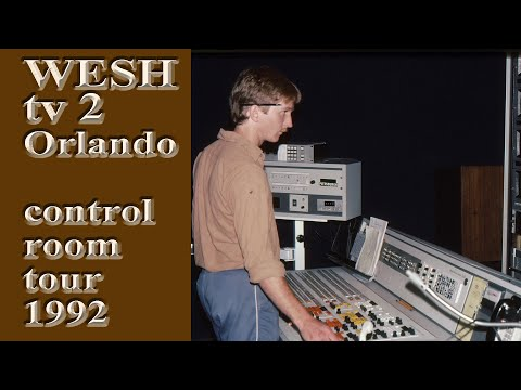 WESH CH 2 ORLANDO BILL SHAFER CONTROL ROOM TECHNICAL TOUR 1992