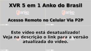 (XVR) DVR 5 em 1 Anko do Brasil - Acesso no Celular Via P2P (Remotamente)