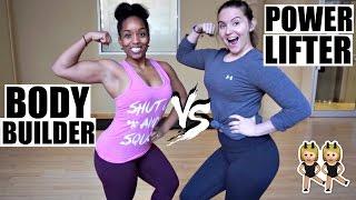 Bodybuilder vs Powerlifter ft  Jelisa Scotton   Strength Wars Female Edition