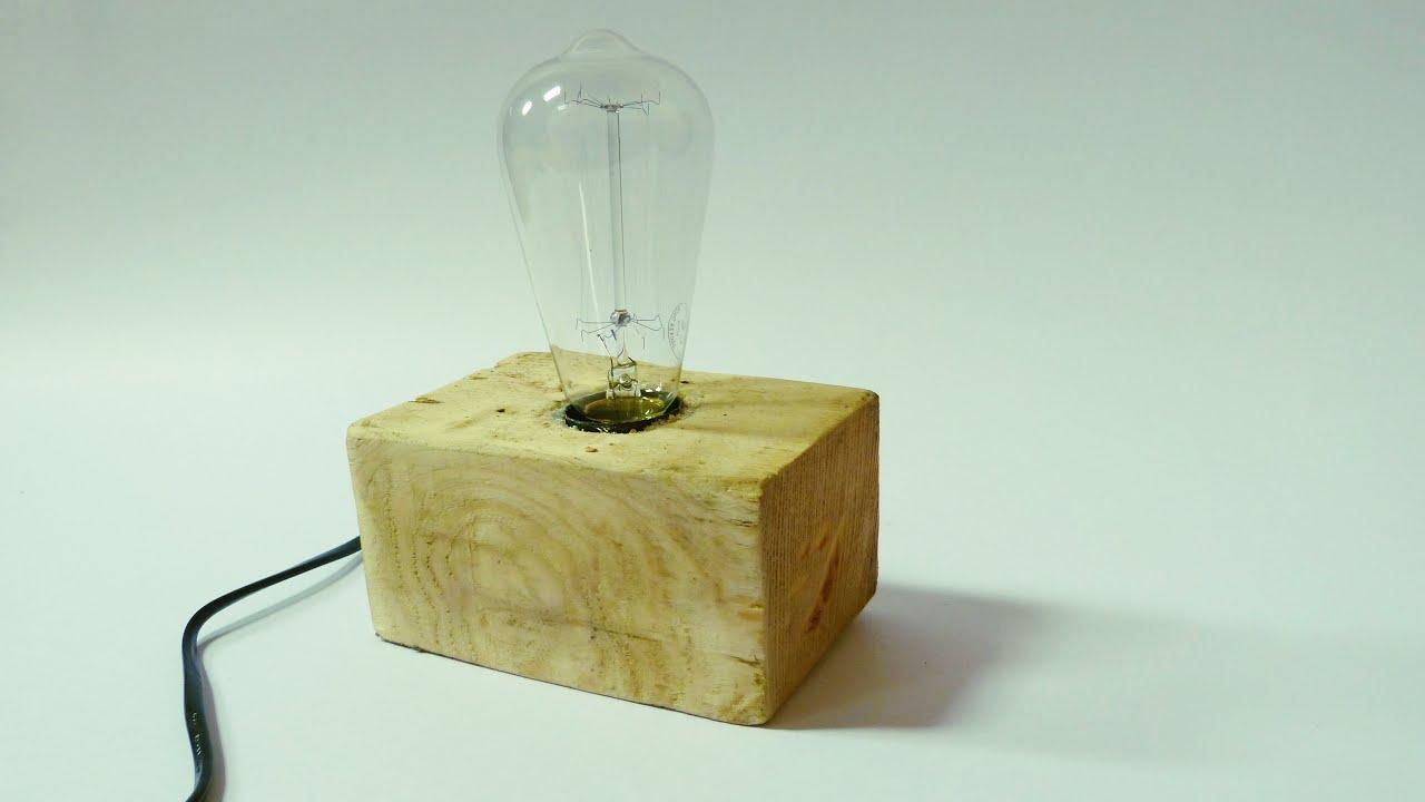 lampe selber bauen aus einer europalette youtube. Black Bedroom Furniture Sets. Home Design Ideas