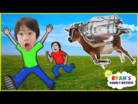 Thumbnail: Let's Play Fun JetPack Goat Simulator with Ryan's Family Review!